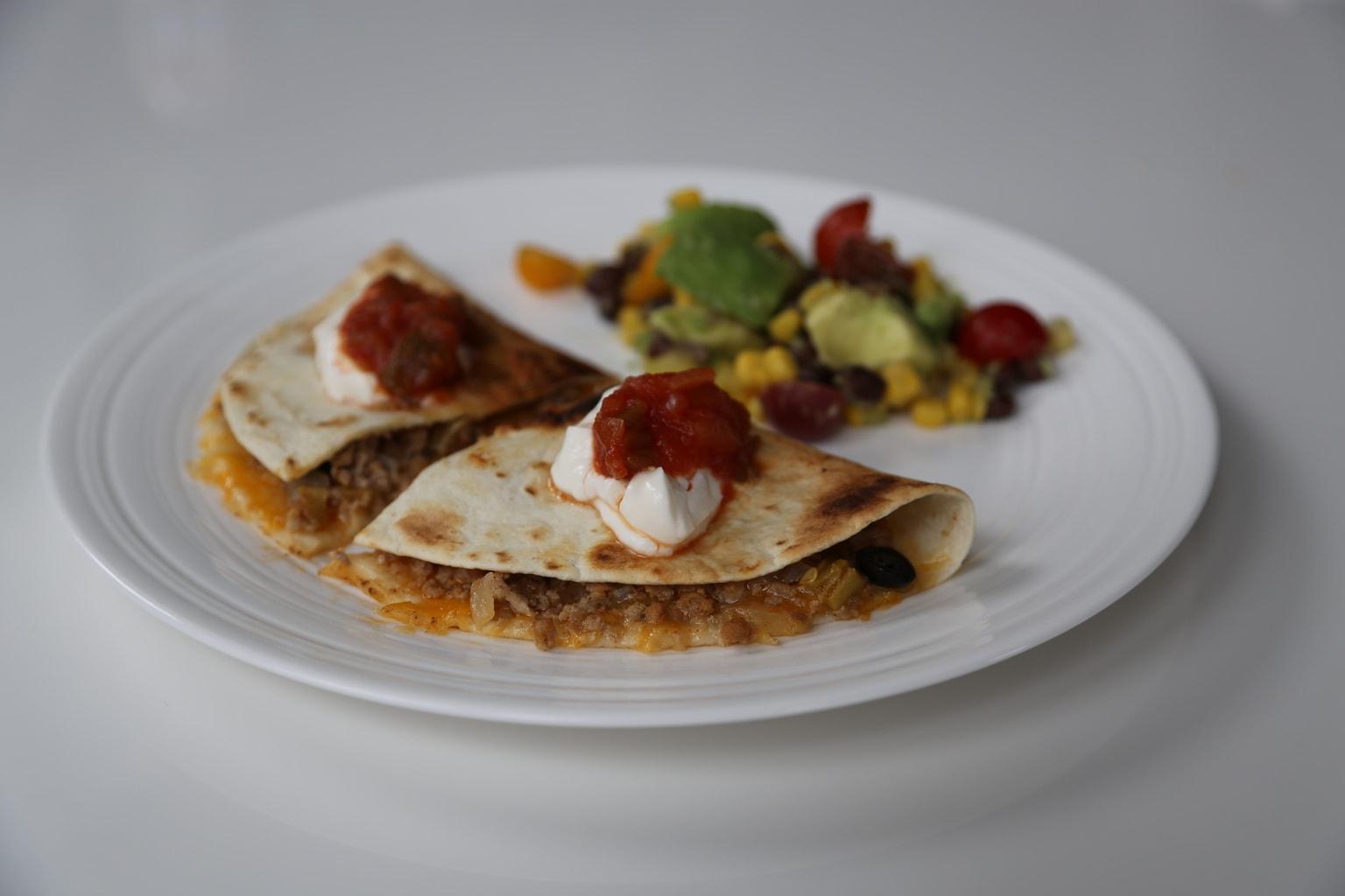 Southwest Quesadillas on plate