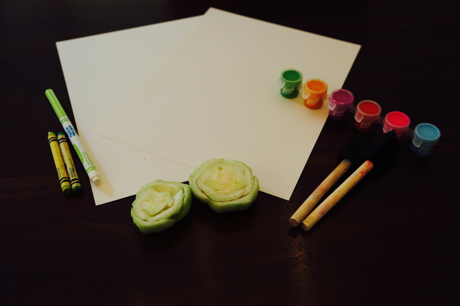 Supplies for Bok Choy Roses craft