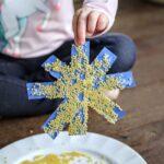 Acini de Pepe Snowflake in child's hand