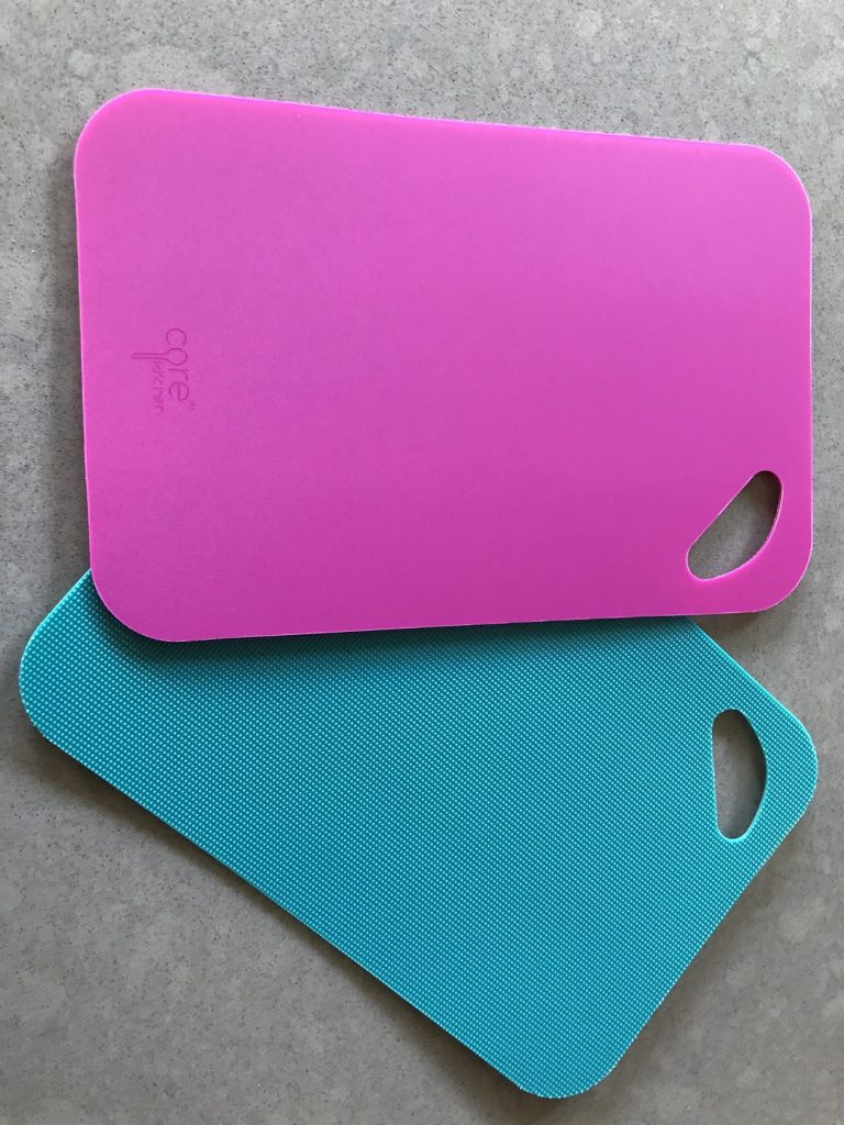 pink and blue Core cutting boards
