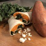 Sweet Potato, Kale & Feta Wrap