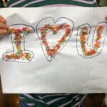 Rainbow Rice Letters spelling I love You