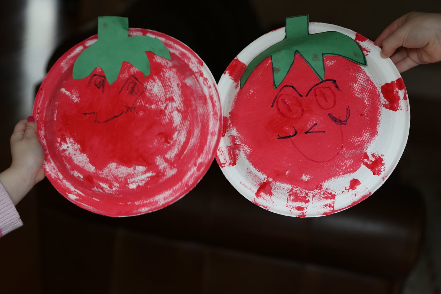 Two tomato plate crafts