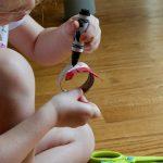 child drawing eyes chicken