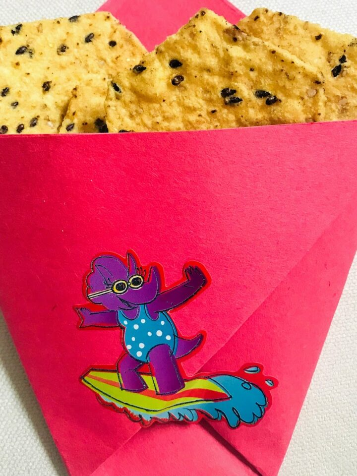 Origami Paper Bag for chips