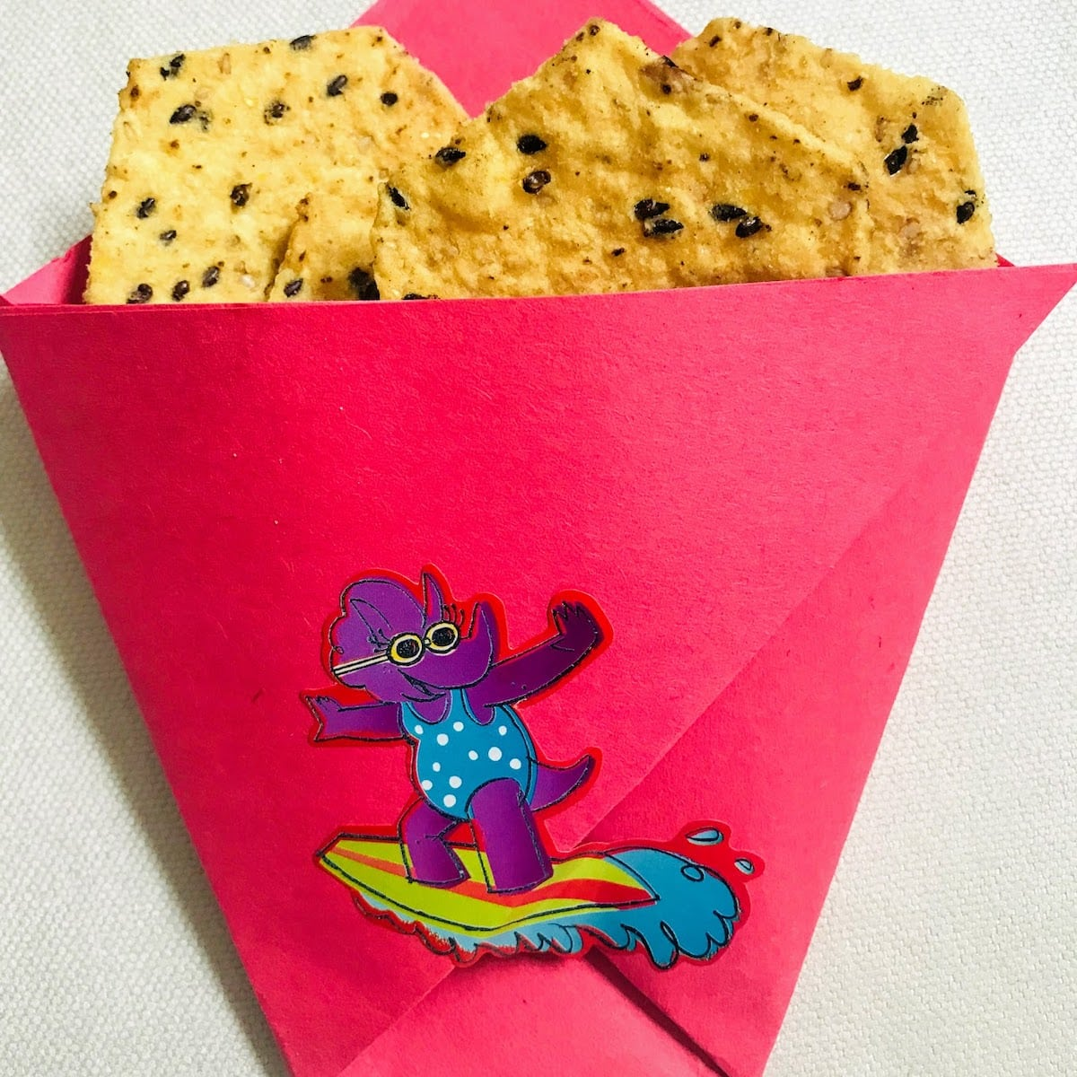 DIY Paper Chip Bag