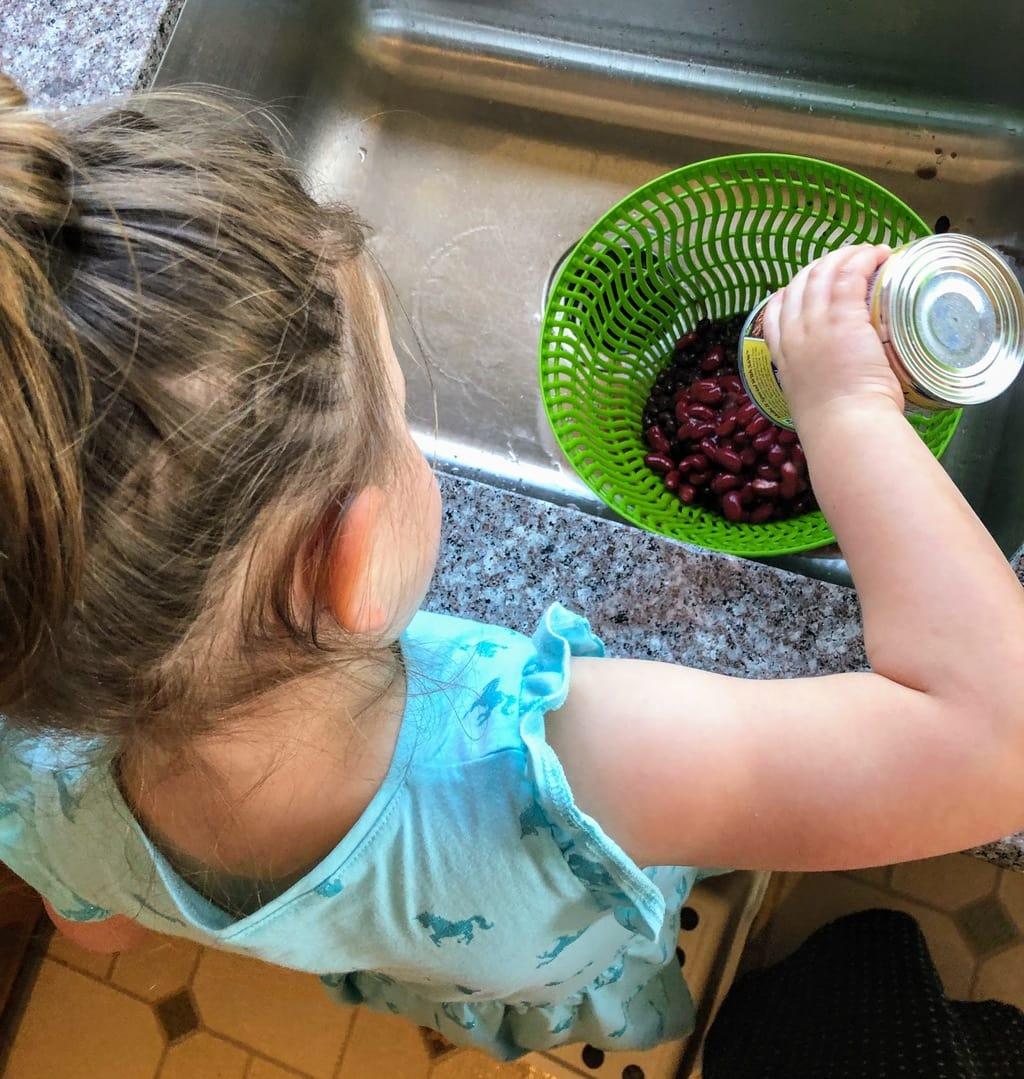 Kids Make Three Bean Salad