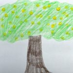 Qtip grapefruit tree art