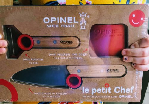 package of red Opinel Knife, Peeler & Safety Guard