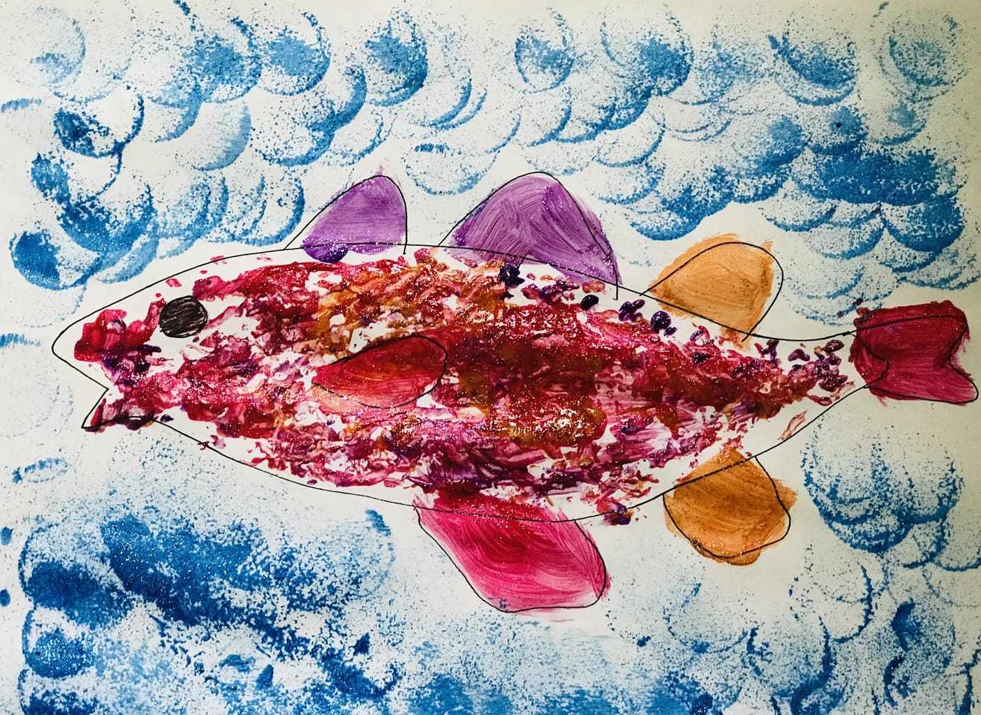 rainbow cod in ocean