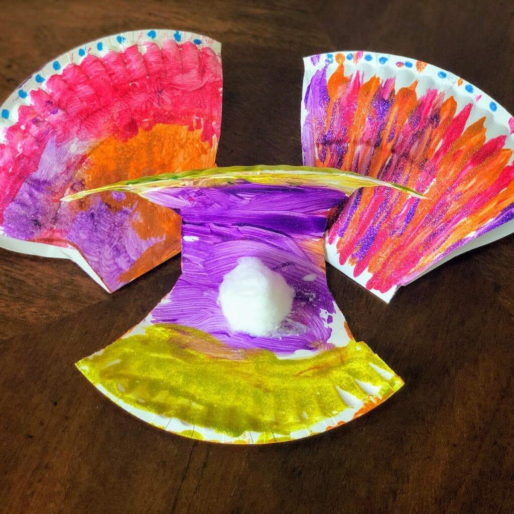 three paper plate seashell crafts