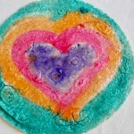 Heart-painted tortilla