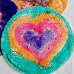 tortillas painted with edible paint