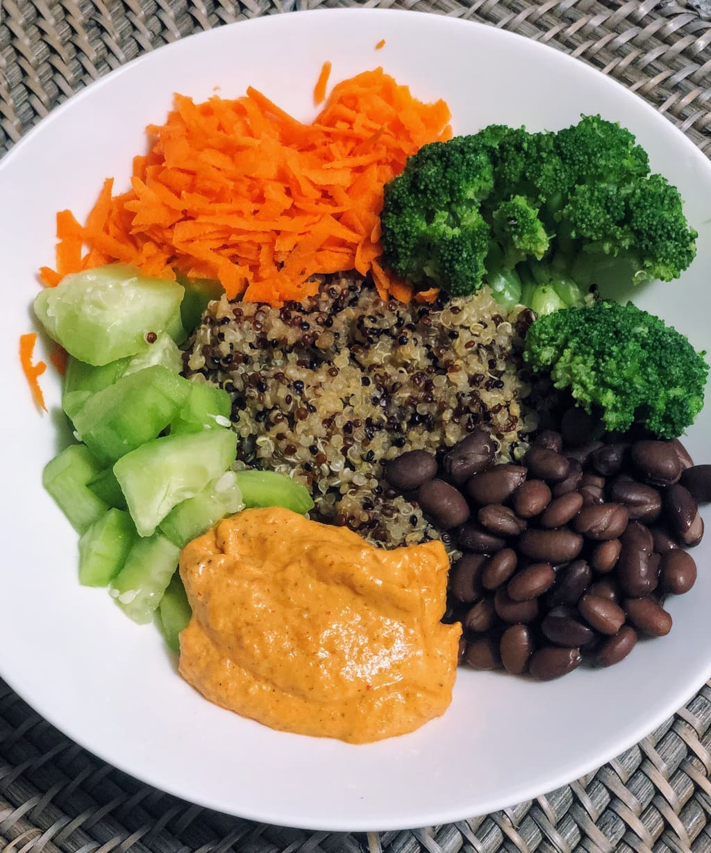 Quinoa Veggie Bowl with Romesco Sauce