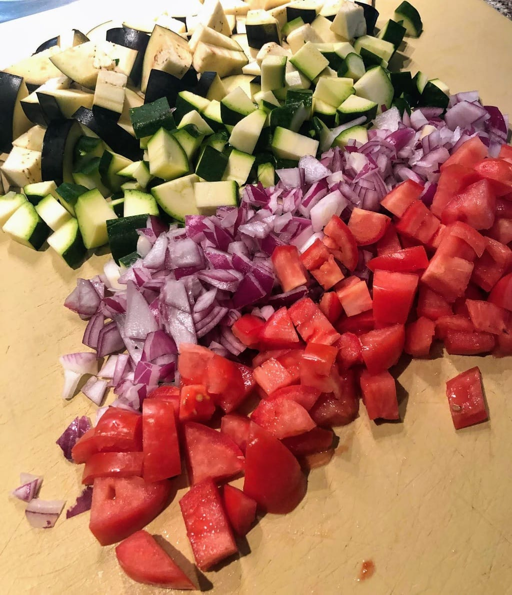 veggies for autumn pasta