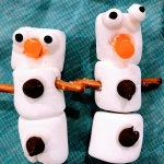 two marshmallow snowmen