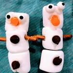 two marshmallow snowmen