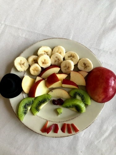 chopped fruits for turkey fruit plate