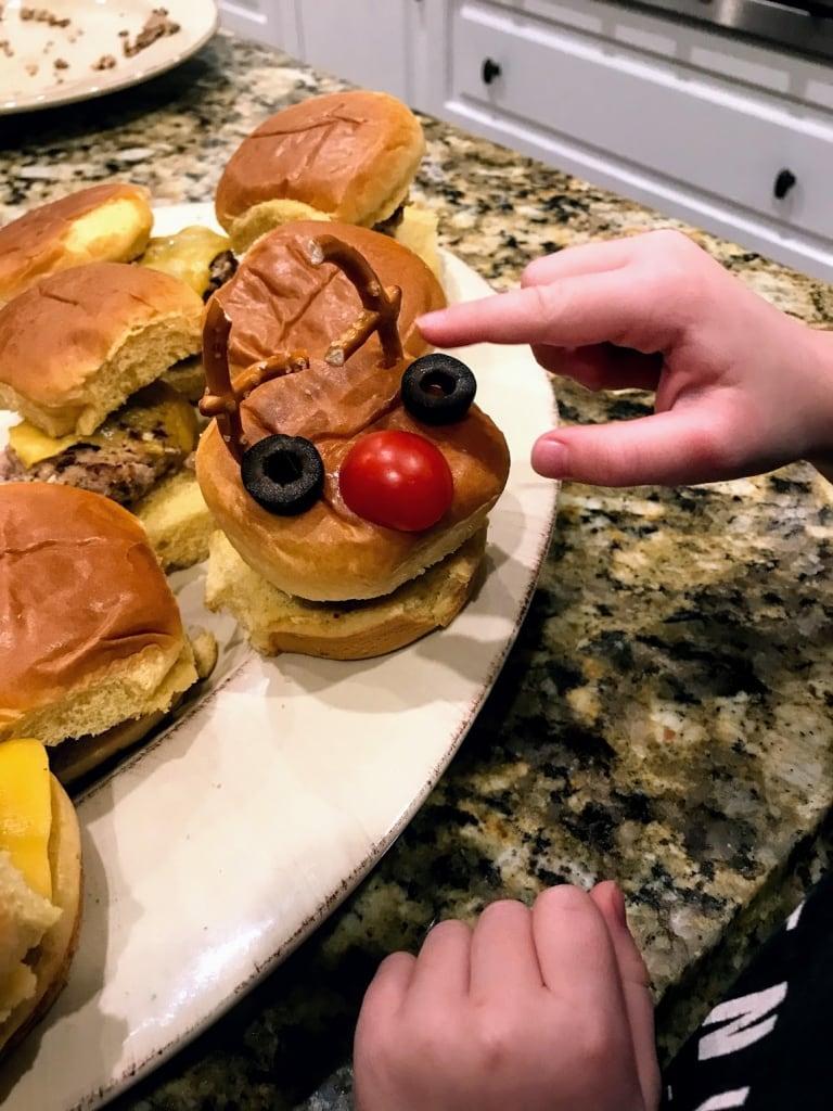 assembled reindeer turkey burger
