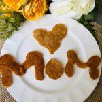Pancake letters spelling MOM