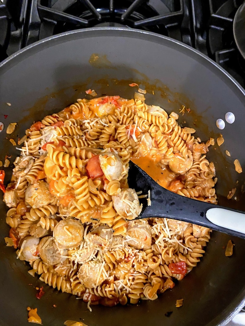 stirring Chicken Sausage Pasta