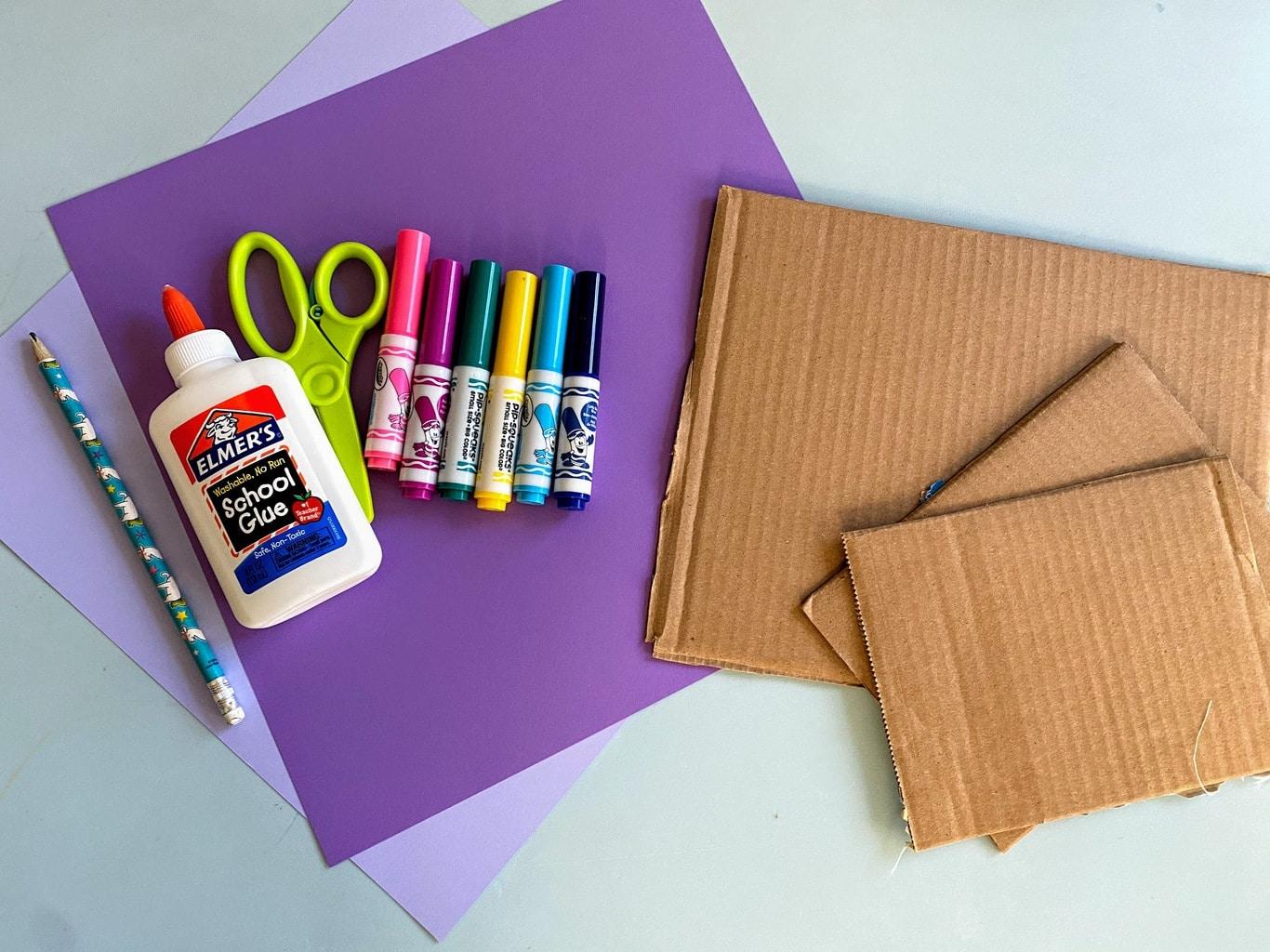 supplies cardboard frame