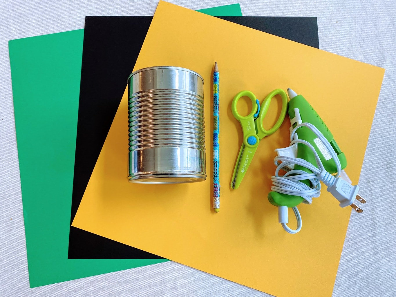 supplies DIY Tin Can Leprechaun Hat