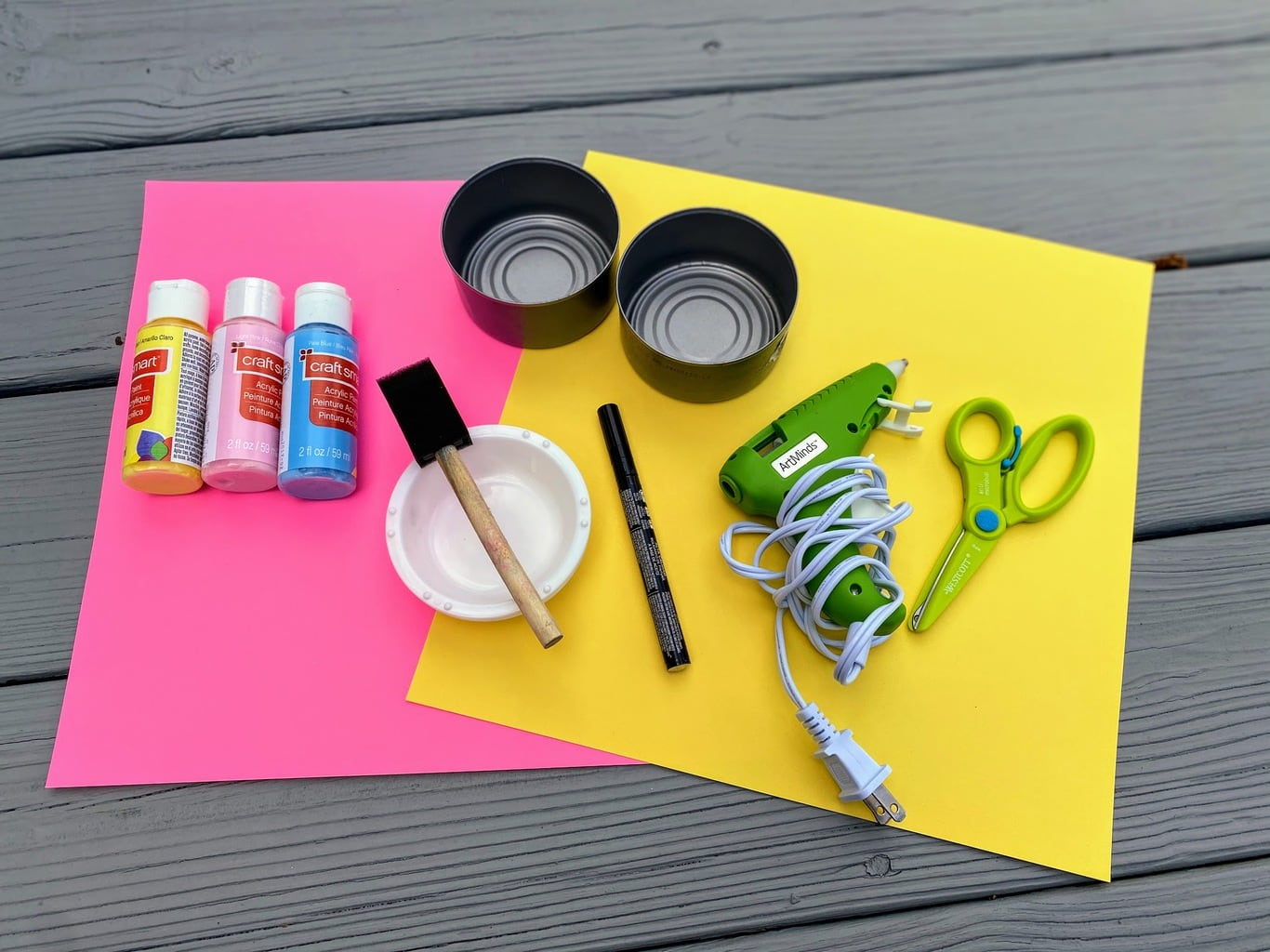 supplies for DIY candy dish