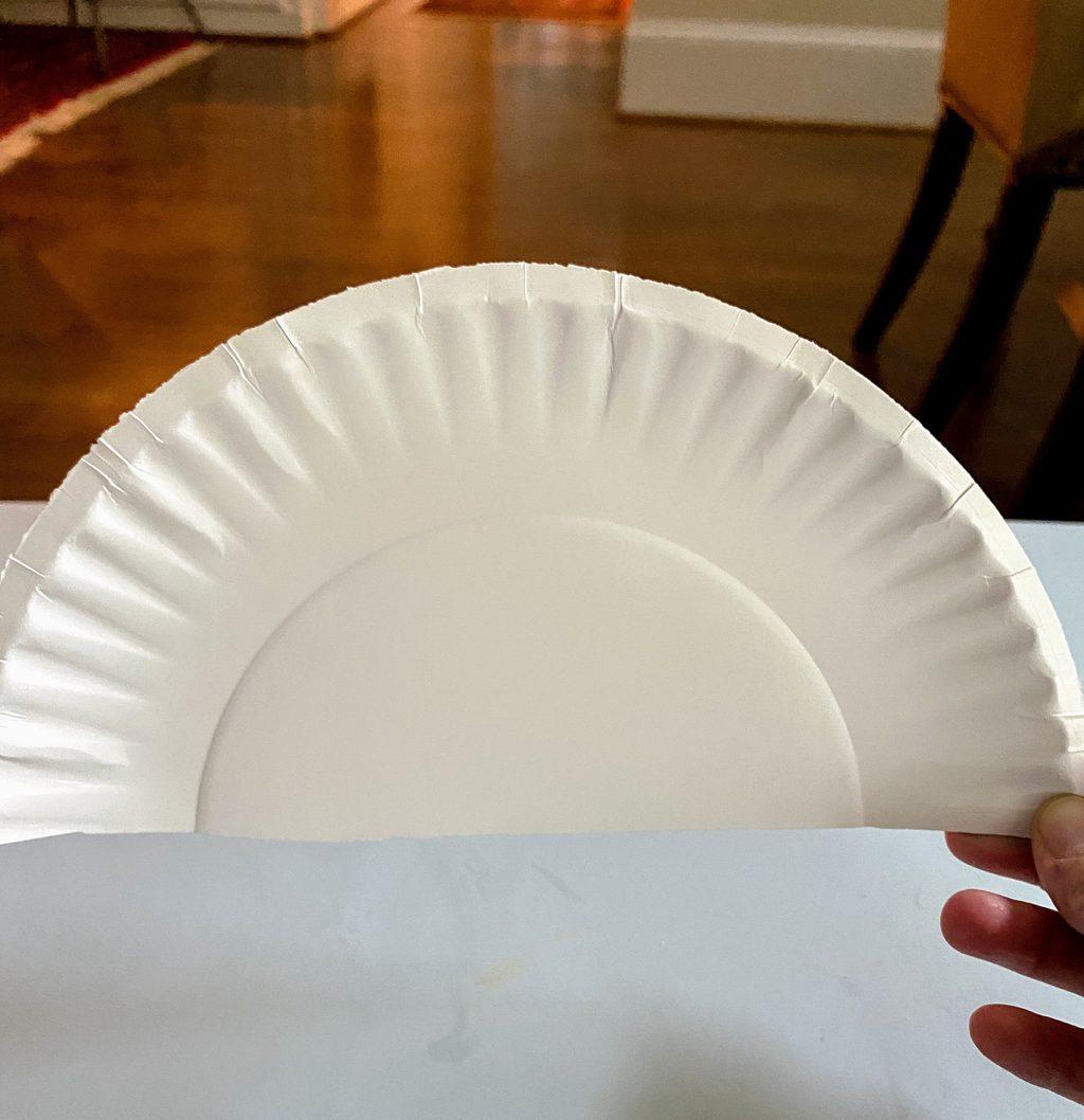 paper plate half