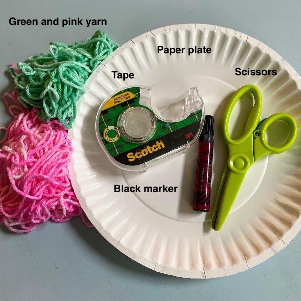 supples for watermelon yarn craft