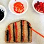 painting toast with paint brush