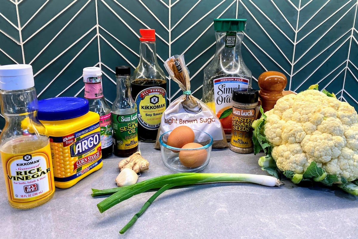 Ingredients for Cauliflower Egg Fried Rice