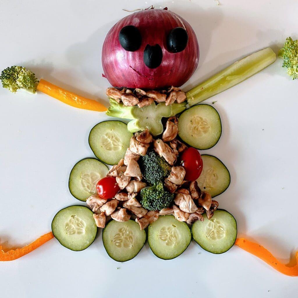 veggie monster in cucumber dress