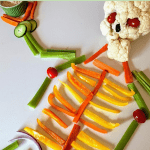 skeleton made from veggies