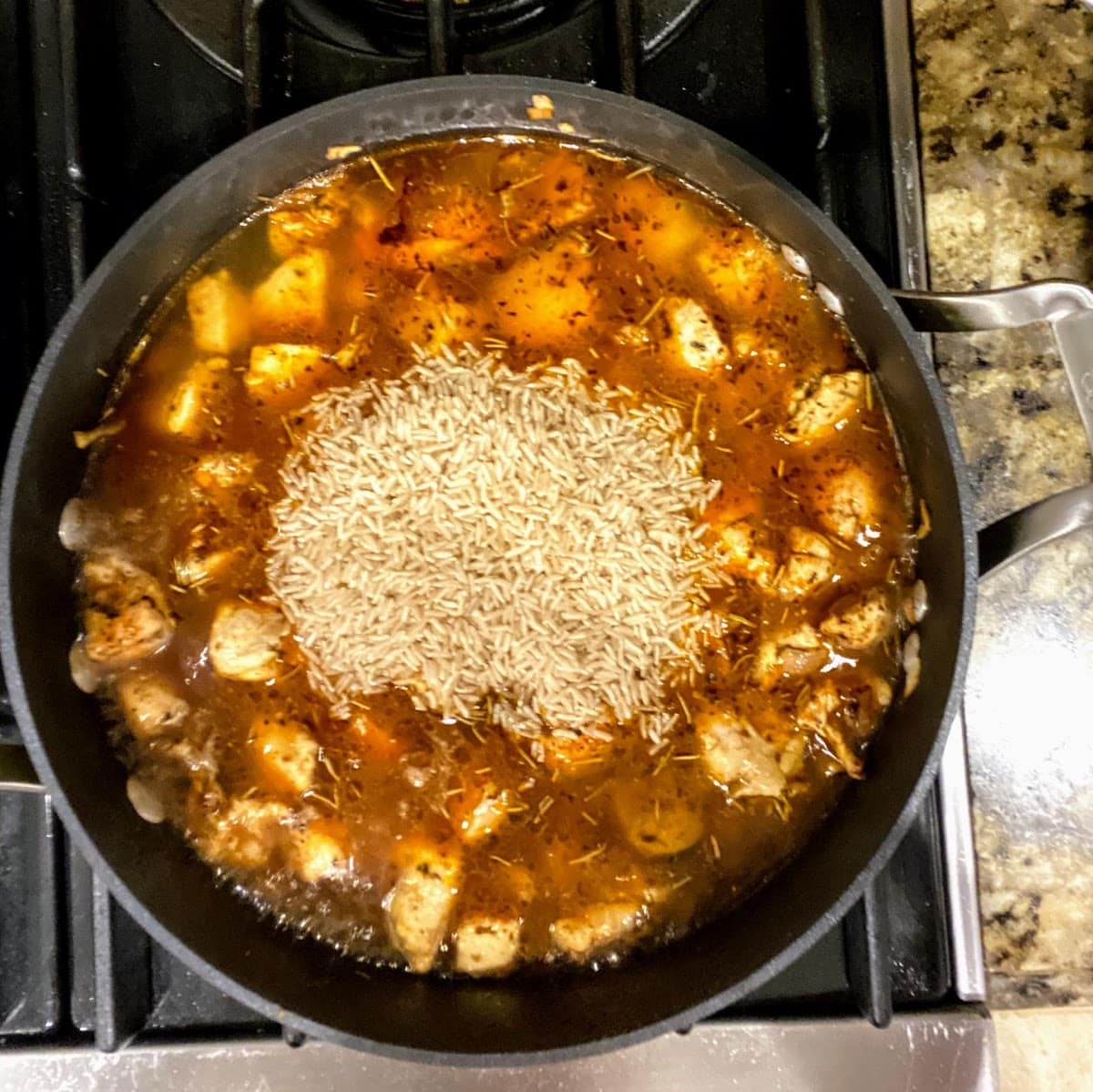 rice added for Parmesan Chicken and Rice