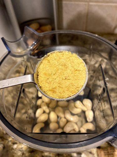 adding nutritional yeast to make vegan cheese