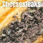 cheese steak sandwich in long roll