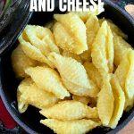 Bowl of shell vegan mac and cheese
