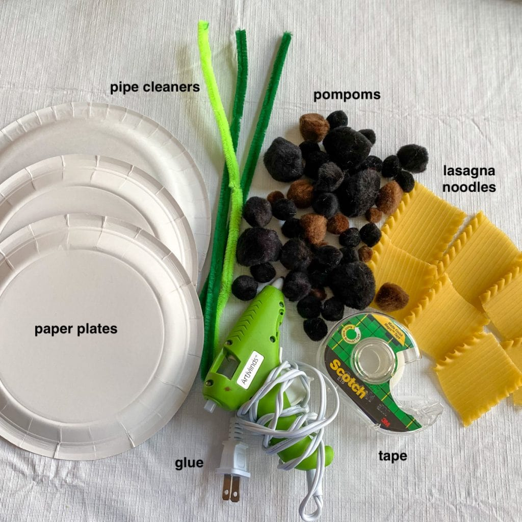 craft supplies for how to make sunflowers craft