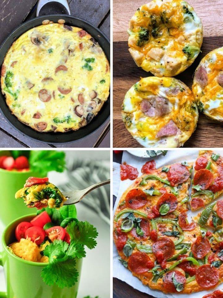 four types of egg recipes
