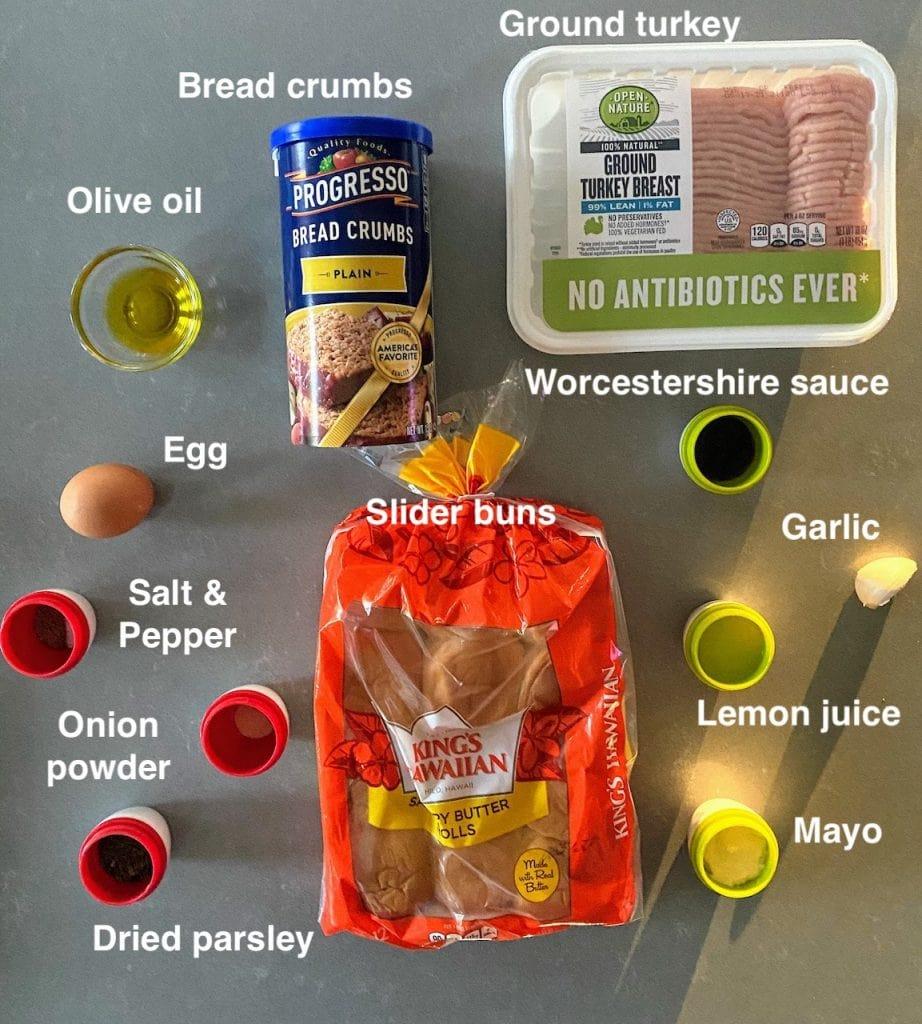 ingredients for turkey burgers