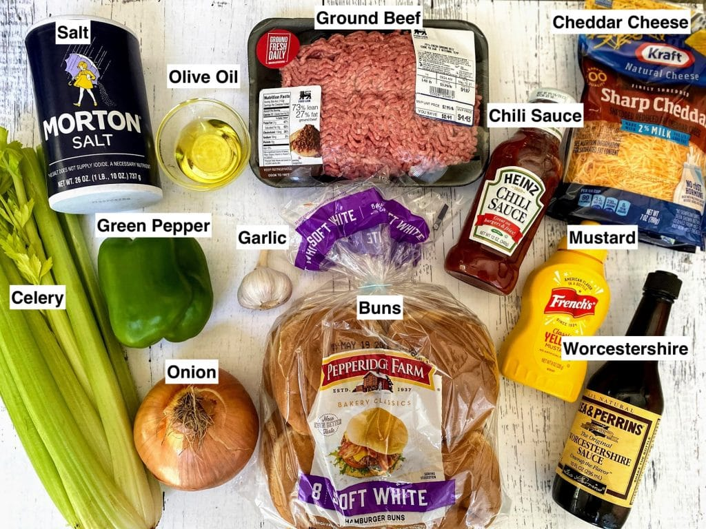supplies for Old Fashioned Sloppy Joes Recipe